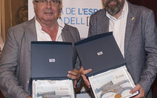 Francesc Urpí i Jaume Marco reben el reconeixement de l'esport sabadellenc