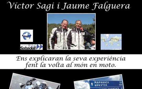Xerrada: Víctor Sagi i el Jaume Falguera, volta al món en moto