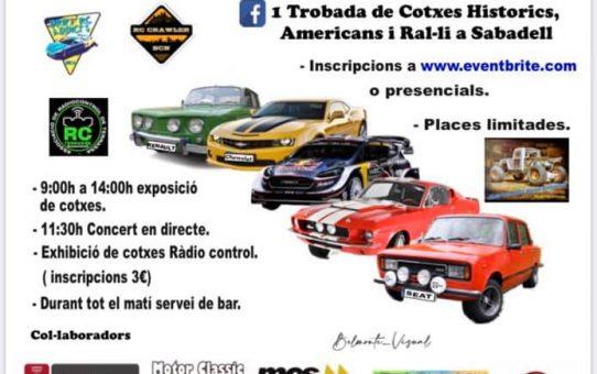 """1 Trobada solidària de """"cotxes clàssics, americans, i de ral·li"""", a Sabadell"""